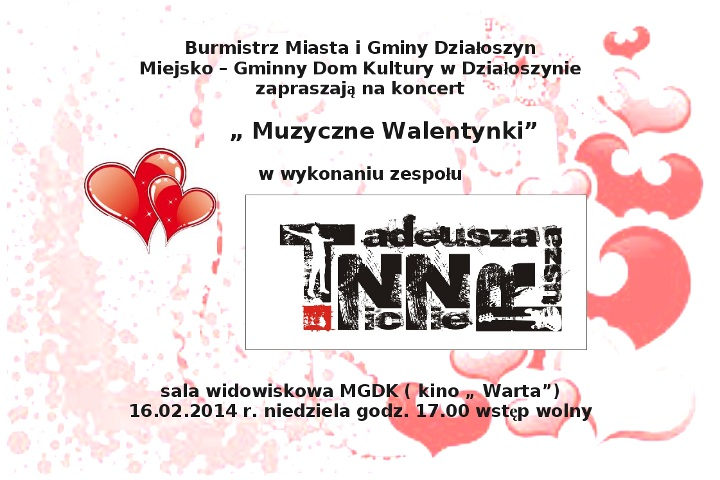 Walentynki Pajęczno E Pajęczno Niezależny Portal Powiat